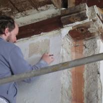 Sondiranje stene za poslikavami
